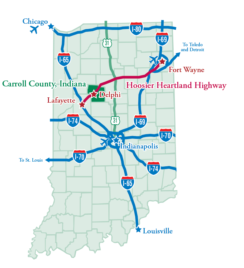 indiana roads map
